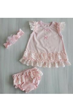 Легкое платье с трусиками (под памперс) и повязкой