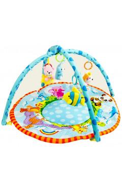 Развивающий мягкий коврик с дугами и игрушками