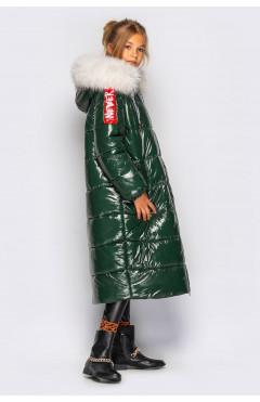 Зимнее пальто для девочки с натуральной опушкой