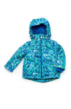 Детская куртка, для мальчика, деми, голубой, р.80,86,92,98,104, Модный карапуз ТМ Украина