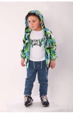 Ветровка на мальчика, зеленый, р.116,122,128,134 Модный карапуз Украина