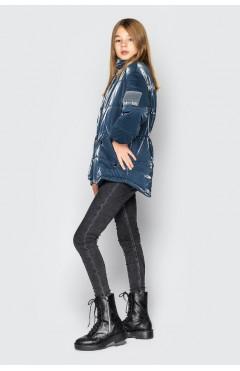 Детская куртка для девочки, демисезонная, синий, р.134,140,152,158 Cvetkov Украина