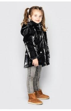 Детская куртка для девочки, демисезон, черный, р.110,104,116,122 Cvetkov Украина