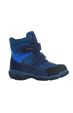 Детские ортопедические ботинки для мальчика, кожа, флис Minimen р. 22, 24