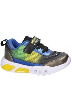 Детские кроссовки для мальчика, экокожа, полиуретан American Club р. 22, 24, 25, 26