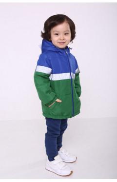 Детская куртка для мальчика, зеленый/синий, плащевая ткань, р.86,92,98,104,110 Модный карапуз Украина