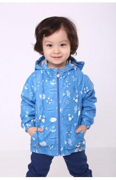 Ветровка мальчика, синий с принтом,  р.86,92,98,104,110 Модный карапуз Украина