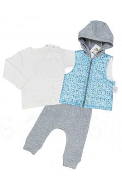 Комплект реглан, жилетка и штанишки
