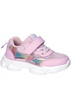 Детские кроссовки для девочки, экокожа, текстиль, American Club р. 22, 25, 26