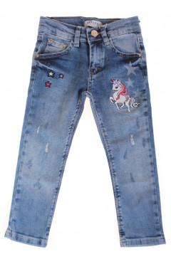 Детские джинсы для девочки, синий, р. 98,92,104,110, Breeze Турция