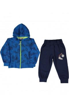 "Детский спортивный костюм ""Футбол"",для мальчика, синий-т.синий,р.86,92,98,104,Haknur Турция"