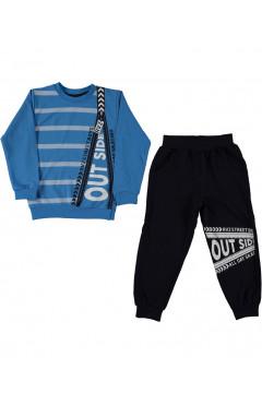 Детский спортивный костюм,для мальчика,синий,р.110,116,122,128,Ravza Турция