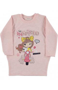 Туника для девочки, розовый, хлопок, р. 98,104,110,116,128 Pop fashion girl Турция
