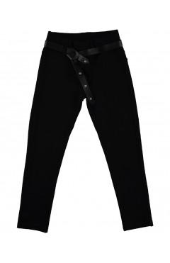 Школьные штаны для девочки, с поясом, черный, р. 116,122,128,134 Joi Турция