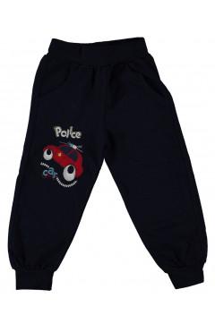 """Детские спортивные штаны для мальчика """"Машинка"""", черный, хлопок, р 80,92,98,104 Minitin Турция"""
