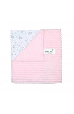 Плед для новорожденного, для девочки, розовый, велсофт, р.100*80, Merry Bee Украина