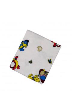 Пеленка для новорожденного, белая с принтом, фланель, р. 95*100, Кена Украина