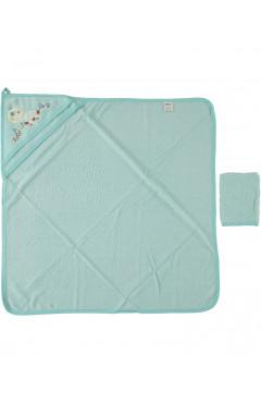 Полотенце для новорожденных, бирюзовый, махра, р.80х80, Ramel Турция