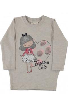 Туніка для дівчинки, утеплена, бежевий, р. 98,110,116,128 Pop fashion girl Туреччина