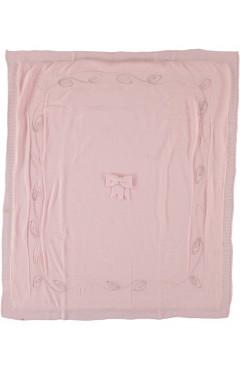 Плед для новорожденного, для девочки пудрорвый, акрил, р. 100*85 Baby my Турция