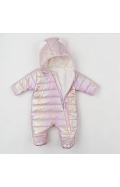 Комбинезон для новорожденного, для девочки, пудровый, плащевая ткань, р.62,68,74 Ляля Украина