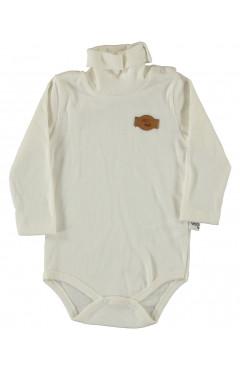 Боди для новорожденных, белый, интерлок, р.74,80,86,92, Puan baby Турция