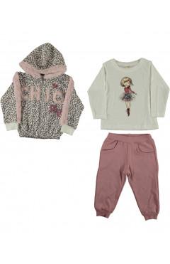 Комплект одежды для девочки, 3 ед., хлопок, р. 86,92,98 Sani Турция