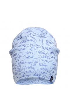 Демисезонная шапка для мальчика, голубой, без завязок, хлопок, р.42,44,46 Davids Star Украина