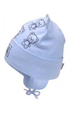 Демисезонное шапка для мальчика, голубой, хлопок, р.44,46 Davids Star Украина