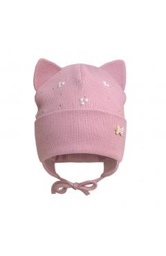 Демісезонне шапка для дівчинки, рожевий, бавовна, р.40,42,44, Davids Star Україна