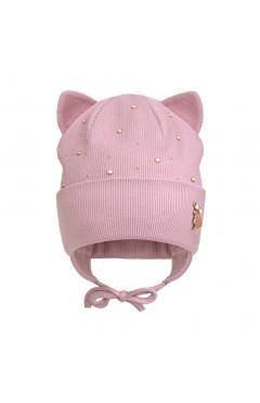Демисезонная шапка для девочки, розовый, хлопок, р.44,46,48 Davids Star Украина