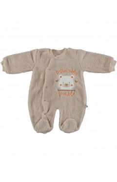 Человечек для новорожденного, утепленный, бежевый, хлопок, р.62,68 Veo baby Турция