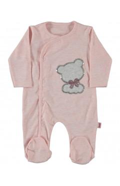 Человечек для новорожденного, для девочки, розовый, интерлок, р.56,62,68 Puan baby Турция