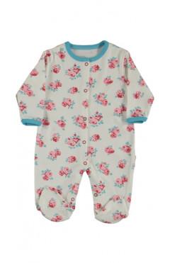 Человечек для новорожденного, девочки, молочный, интерлок, р.56,62,68 Midirik Турция