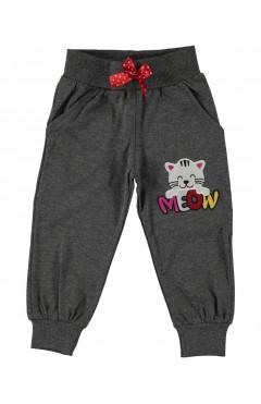 Детские спортивные штаны, для девочки, серый, хлопок, р.96,92,98,104 Misil Турция