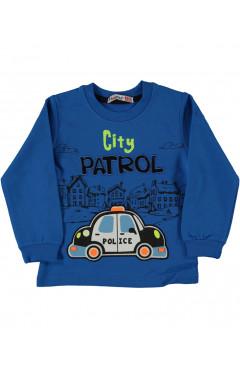 "Кофта для мальчика ""Полиция"", синий, злопок, хлопок, р.86,92,98,104 Haknur Турция"