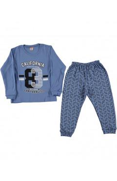 Пижама детская, для мальчика, синий, хлопок,р.104,110,116 Rolly Go Турция