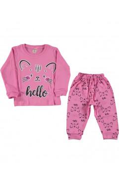 Піжама дитяча, для дівчинки, рожевий, бавовна, р.80,92,98 Rolly Go Туреччина