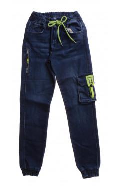 Детские джинсы, джоггеры, для мальчика, синий, р.146, A-Yugi Турция