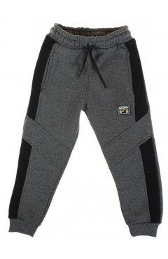 Детские спортивные штаны, для мальчика, утепленные, серий, р.128,134,140,146, Joi Турция