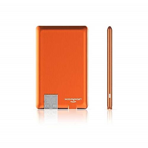 Внешн. порт.аккум. Батарея XOOPAR - POWER CARD(Li-Pol,1300мА*ч,оранж,microUSB/USB-каб, LED)