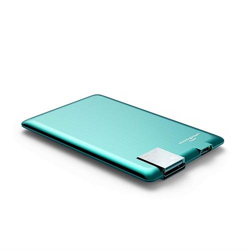 Внешн. порт.аккум. Батарея XOOPAR - POWER CARD(Li-Pol,1300мА*ч,мятн,microUSB/USB-каб, LED-индикатор)