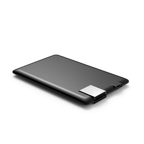 Внешн. портат..аккум. батарея XOOPAR - POWER CARD  (Li-Pol,1300мА*ч,черн.,microUSB/USB-каб, LED)