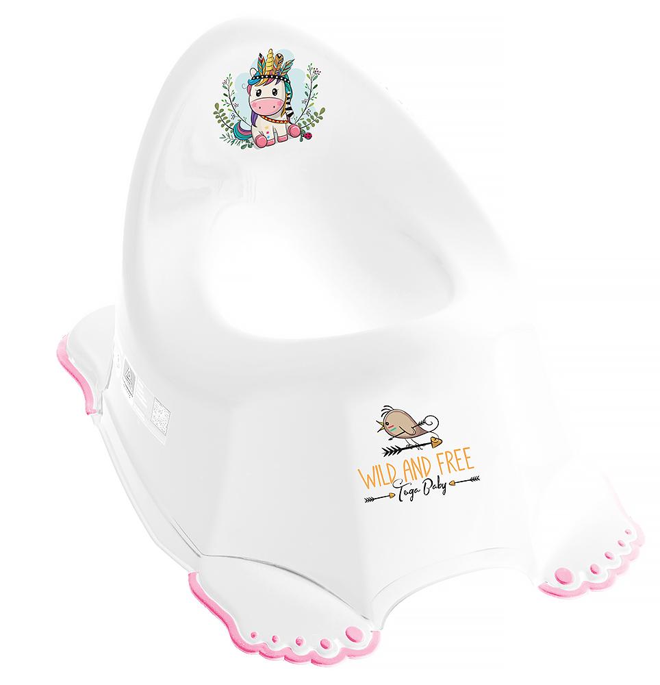Горшок Tega Wild & Free Unicorn DZ-001 нескользящая 103 white-pink