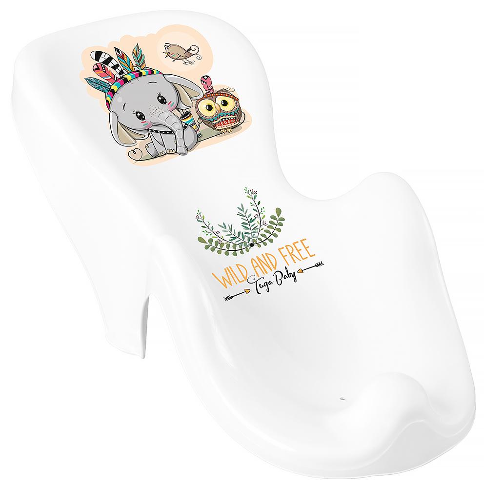 Горка для купания Tega Wild & Free Little Elephant DZ-003 нескользящая 103 white-green