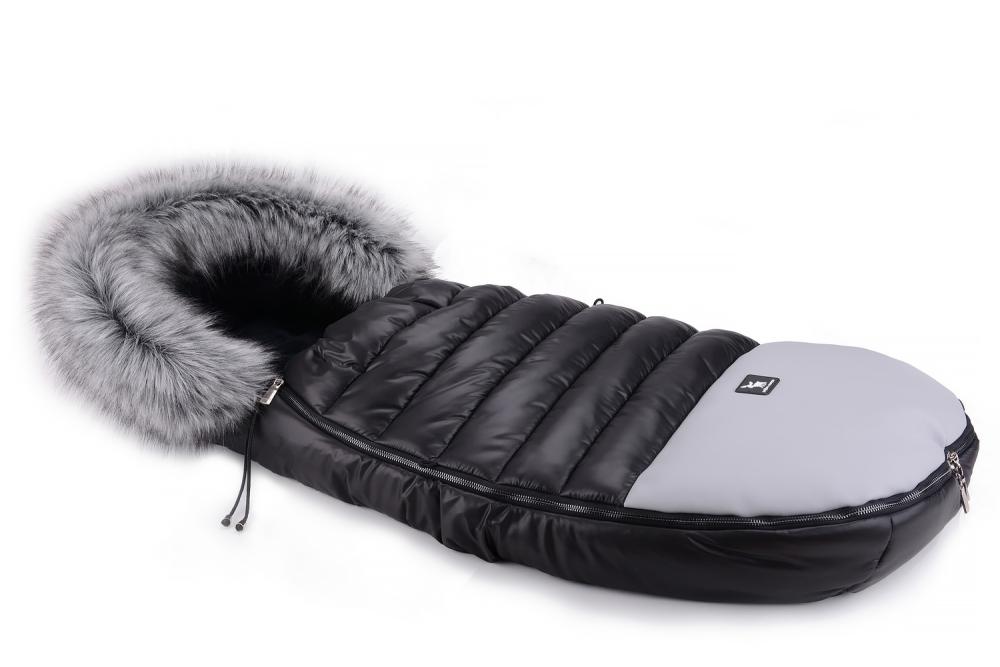 Зимний конверт Cottonmoose Alaska Premium 729/65/107/142 gray (черный-серый)