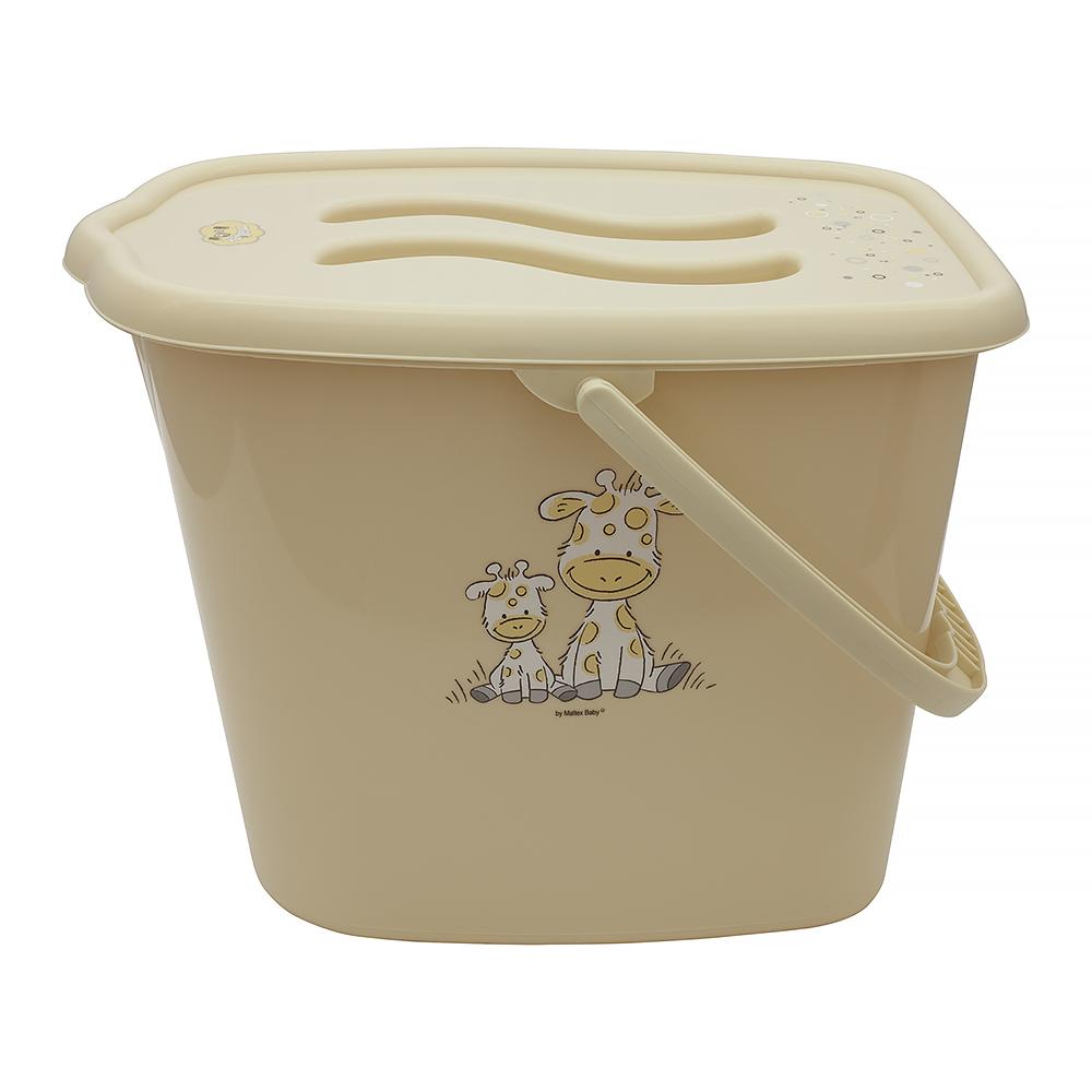 Ведерко для подгузников и воды Maltex Giraffe 8009  beige