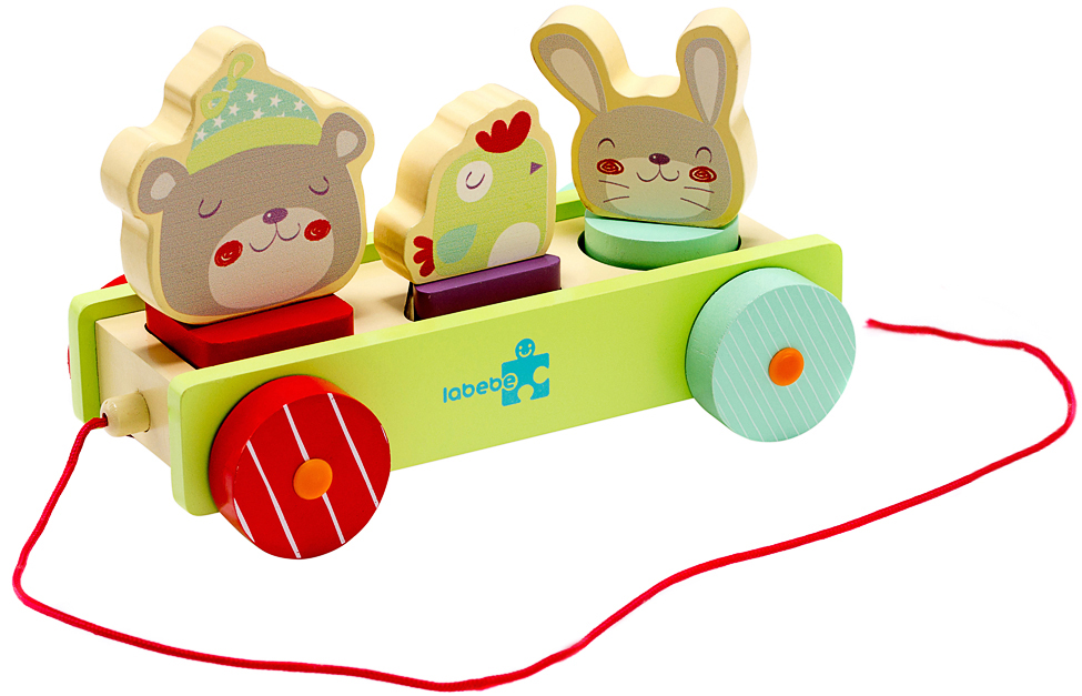 Игрушка Labebe Animal Pull-A-Long Car 12m+ HY1610006