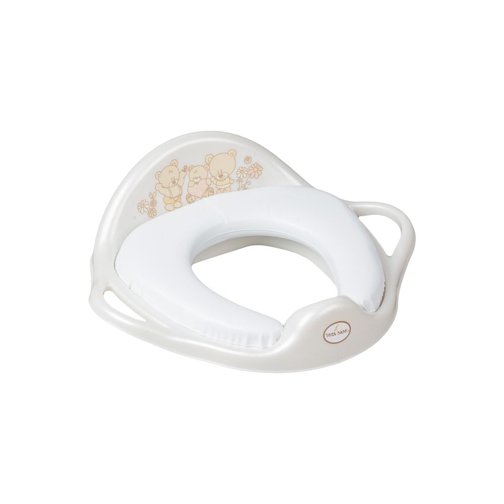 Накладка на унитаз Tega Teddy Bear MS-020 Soft мягкая 118 white pearl