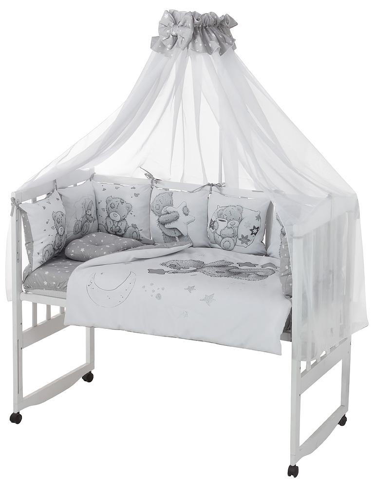 Детская постель Babyroom Bortiki Print-08  grey teddy